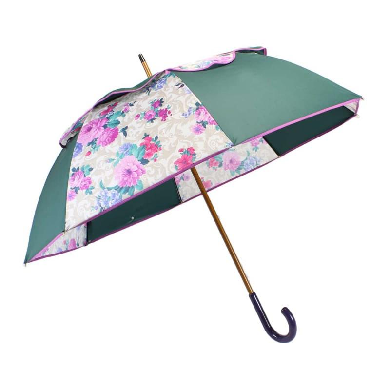 Green and retro flowered Passvent umbrella
