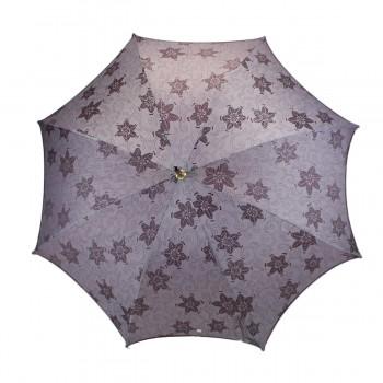 Parapluie Chic violet à fleurs long