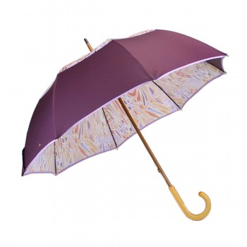 Parapluie vice versa prune et seventies long