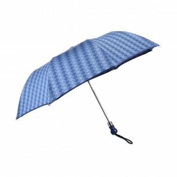Parapluie série limité losanges bleus pliant automatique