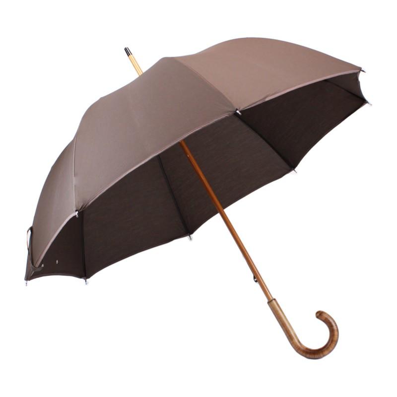 Parapluie long classique marron