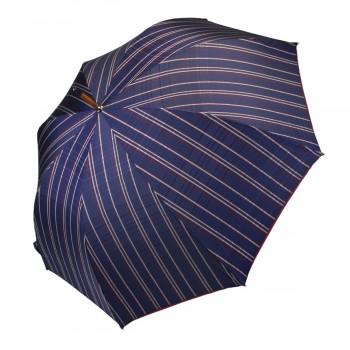 Parapluie série limitée tartan bleu nuit long