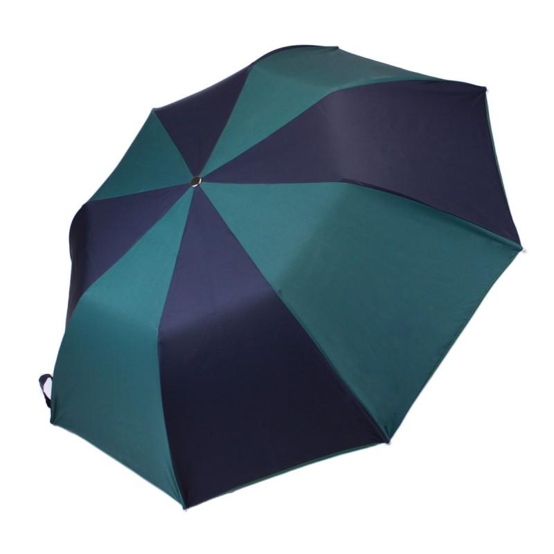 Parapluie Classique vert et bleu pliant automatique