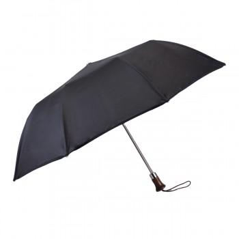 Parapluie Classique uni noir pliant automatique