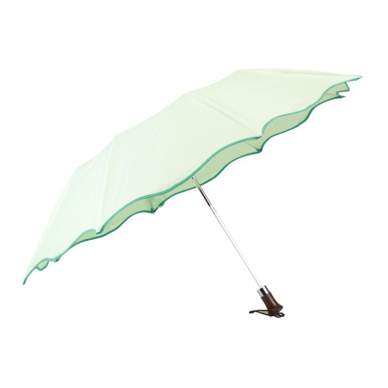 Folding parasol mint water-mint green bias, wave shape