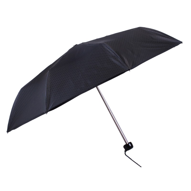 Black mini jacquard umbrella