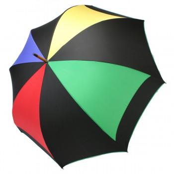 Parapluie Moulin noir et multicolore demi-golf