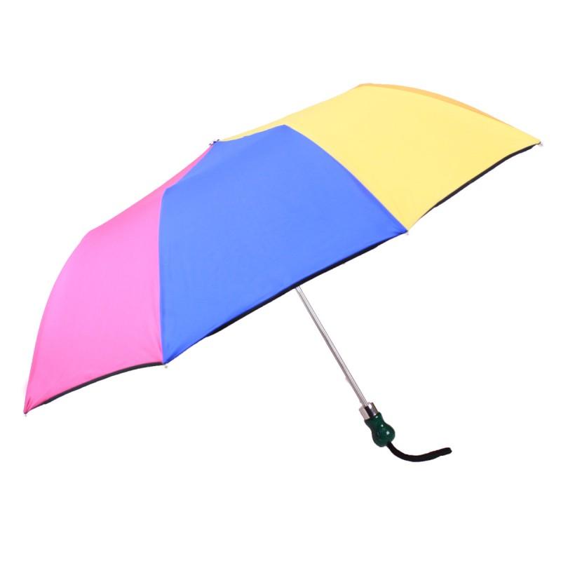 Multicoloured monochrome folding umbrella