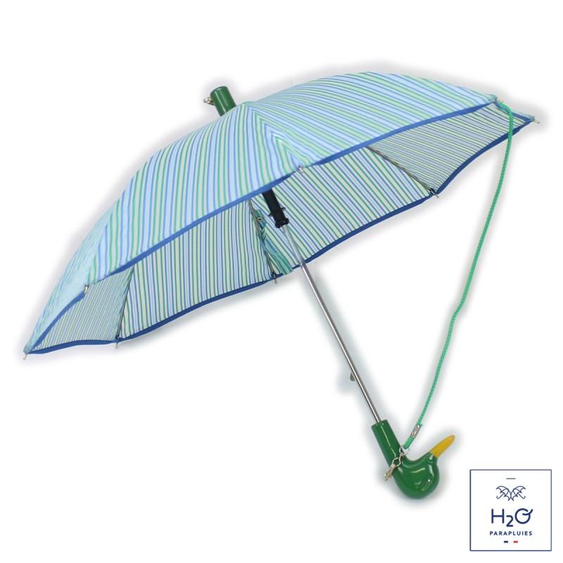 Parapluie Enfant rayé vert et bleu