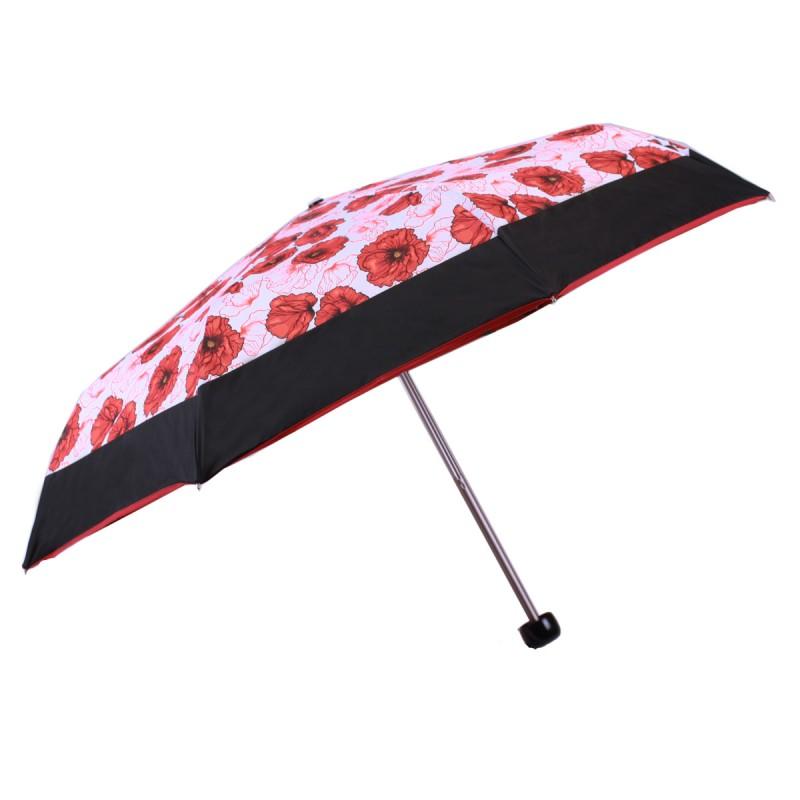 Umbrella mini poppies and black stripe