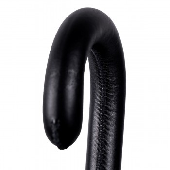 Black leather handle with...