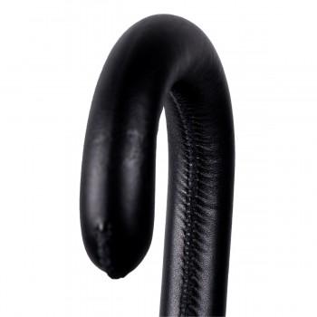 Poignée cuir noir surpiqûre...