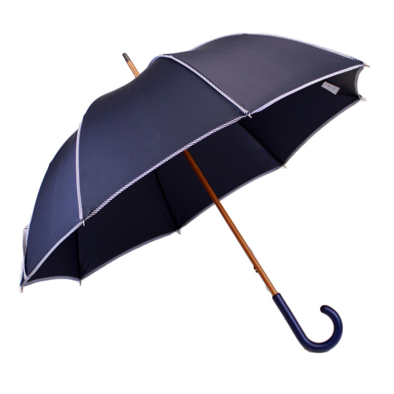 Elegant long umbrella in blue and navy blue