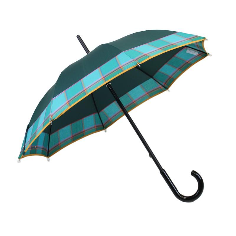 Junior umbrella green and madras