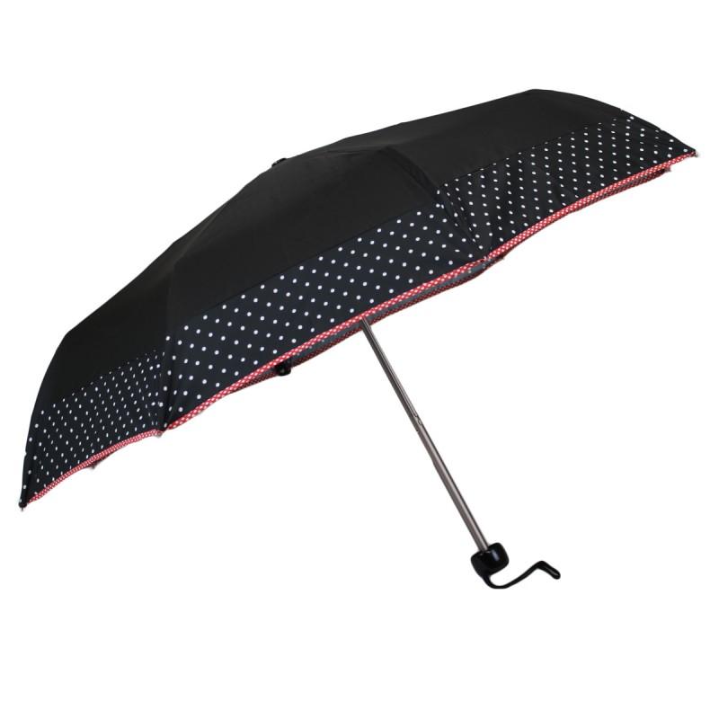 Parapluie mini noir et bande à pois