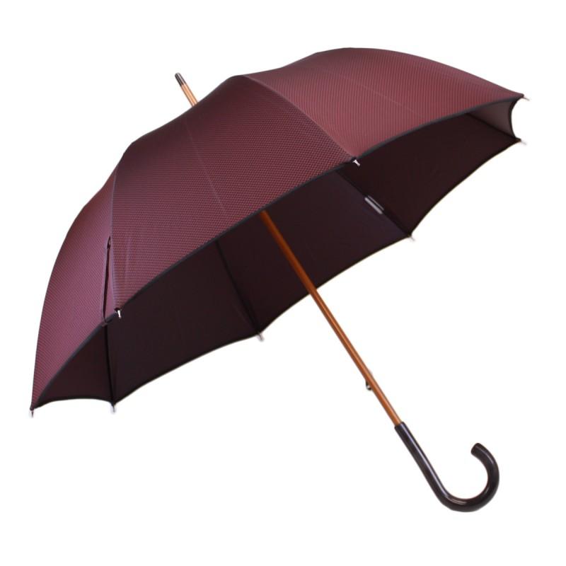 Roter gewebter langer Regenschirm
