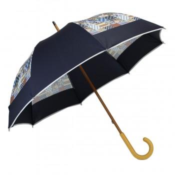 Parapluie long moulin bleu...