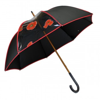 Elegant black long umbrella...