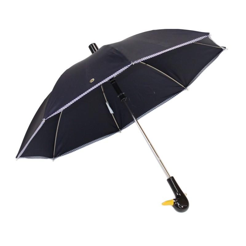 Navy blue children's umbrella with bow and bow tie