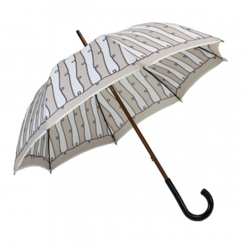 Medium umbrella beige ropes