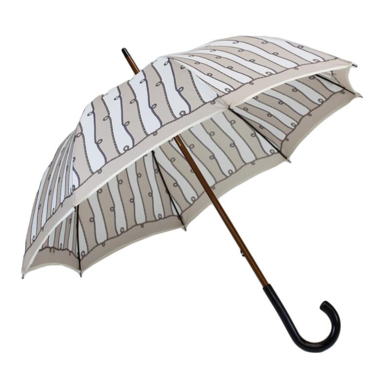 Mittlerer Regenschirm beige Seile