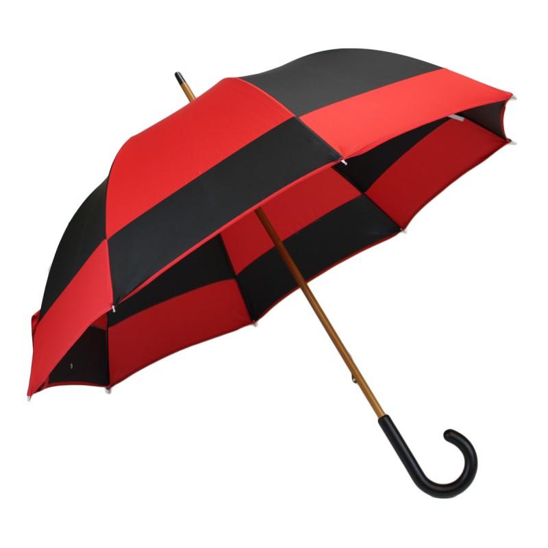 Parapluie long moulin rouge et noir