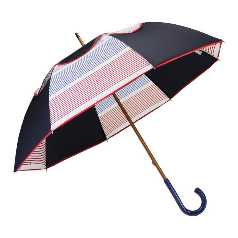 Parapluie Passvent bleu marine et marinière