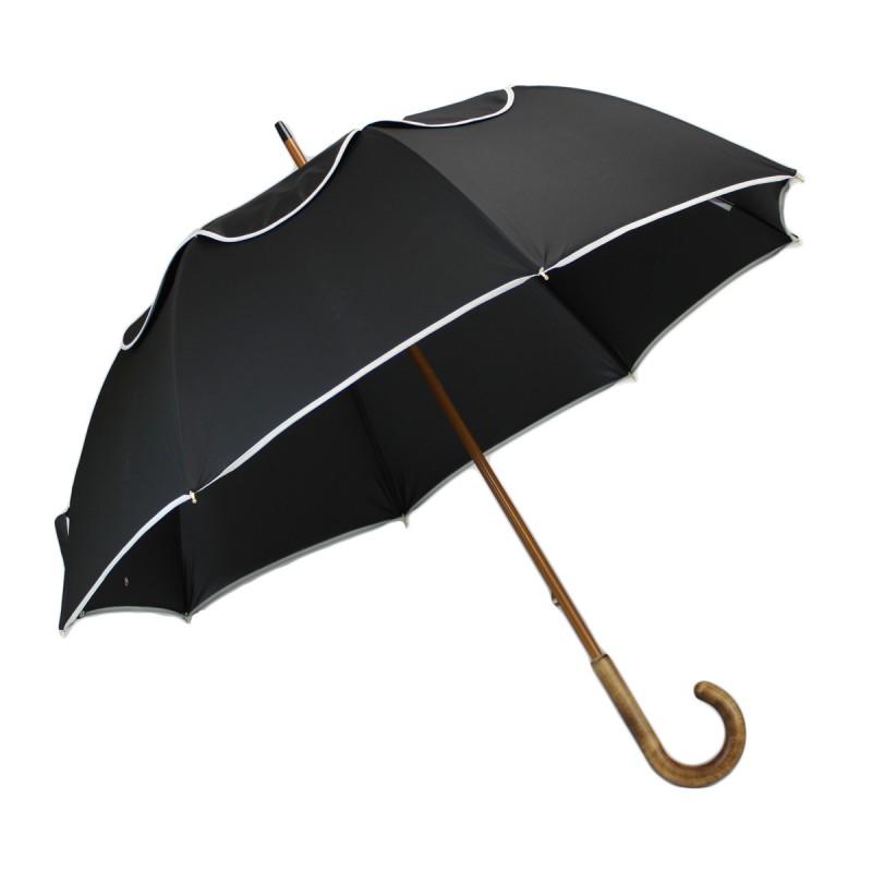 Regenschirm Passvent schwarz schräg weiß