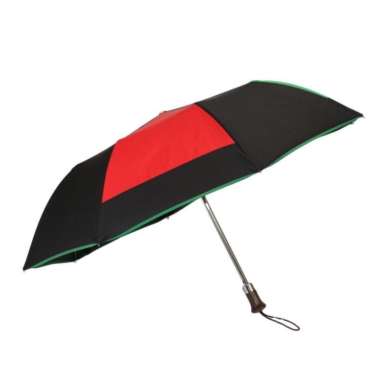 Folding umbrella mill black and multicoloured