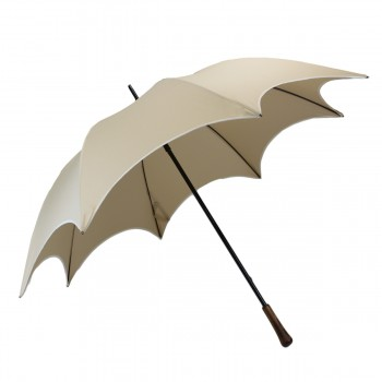 Beige chic wedding umbrella