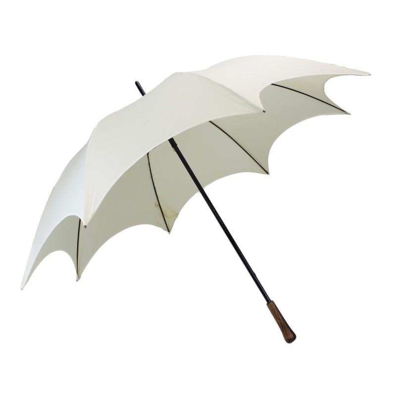 Parapluie de mariage chic blanc cassé