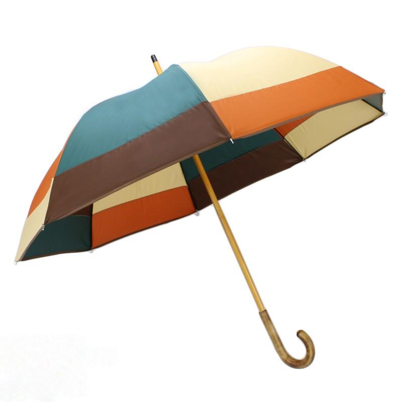 Parapluie demi-golf moulin orange, vert, marron et beige