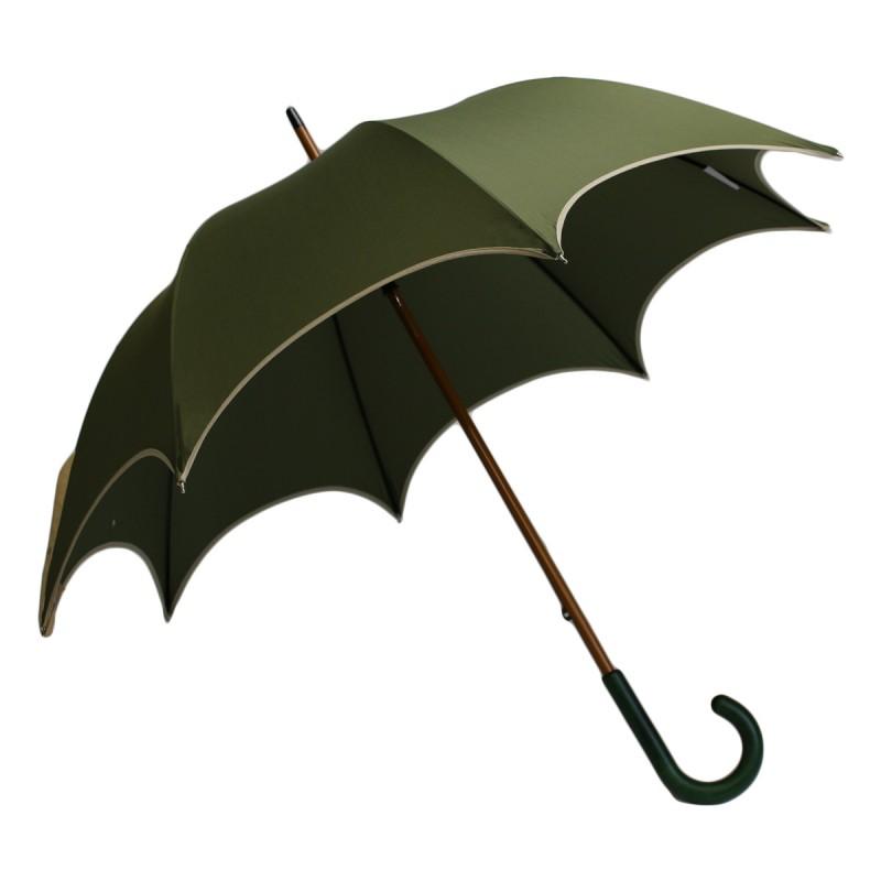 Parapluie long chic kaki