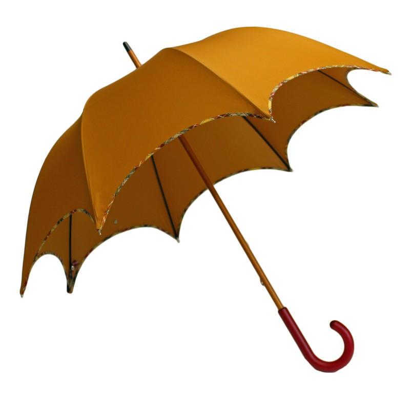 Parapluie long chic rouille