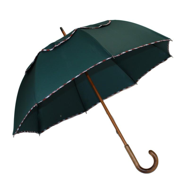 Umbrella Passvent green, red tartan bias