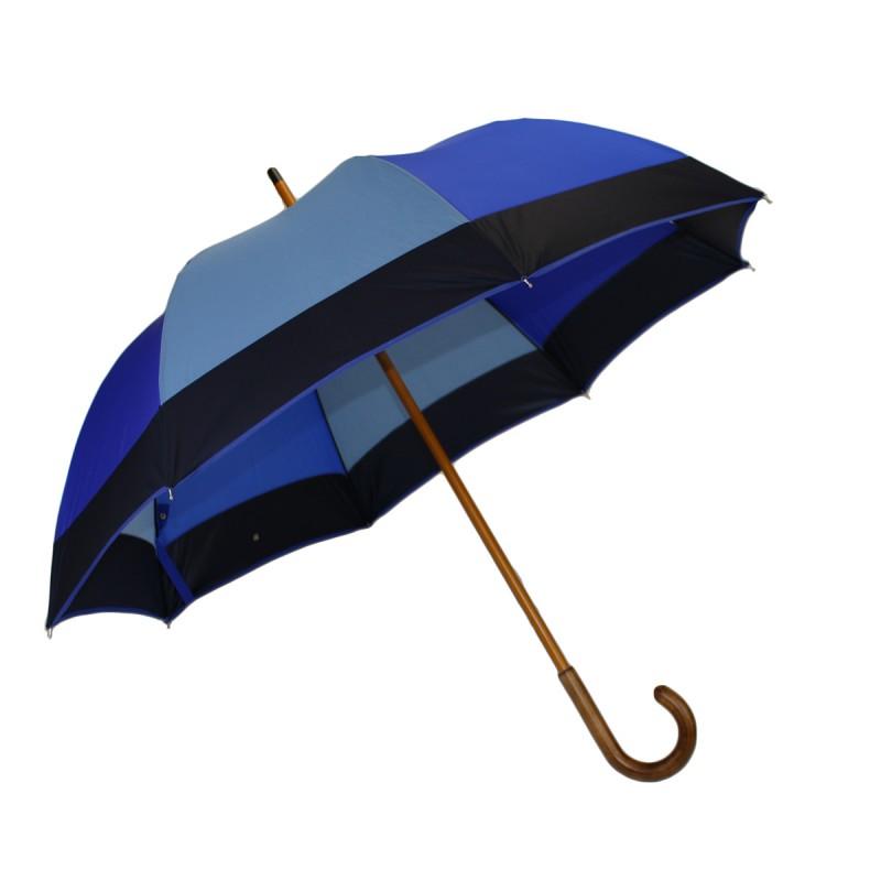 Parapluie demi-golf camaïeu bleu
