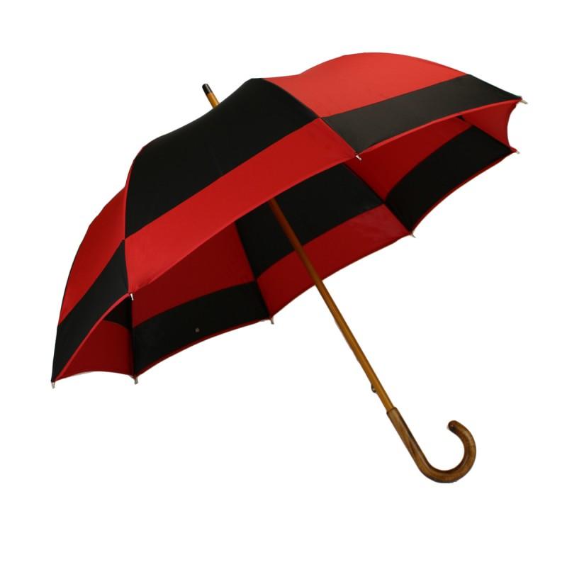 Regenschirm halbe Golfmühle rot und schwarz