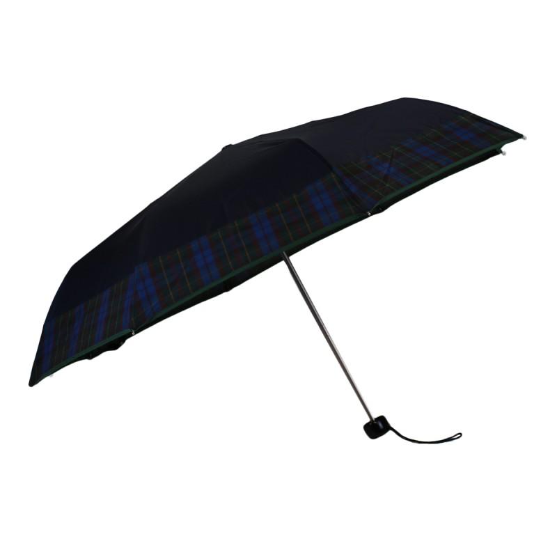 Mini umbrella blue with tartan green stripe