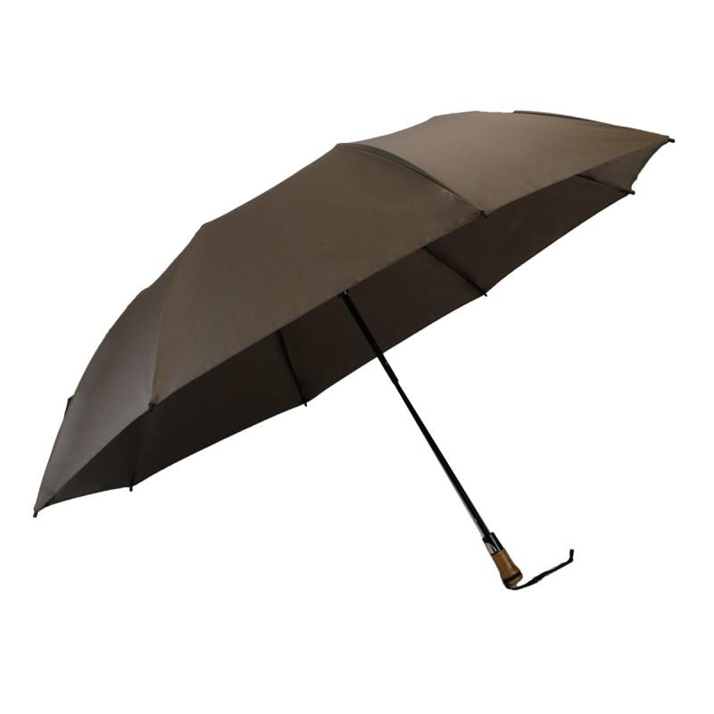 Classic brown folding golf umbrella