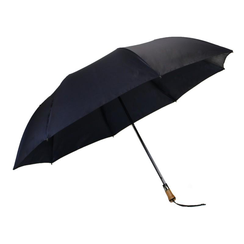 Classic navy blue folding golf umbrella