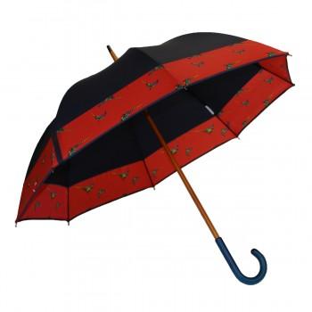 Parapluie long bleu marine...