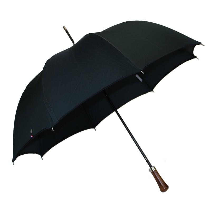 Parapluie long automatique tissé jacquard vert