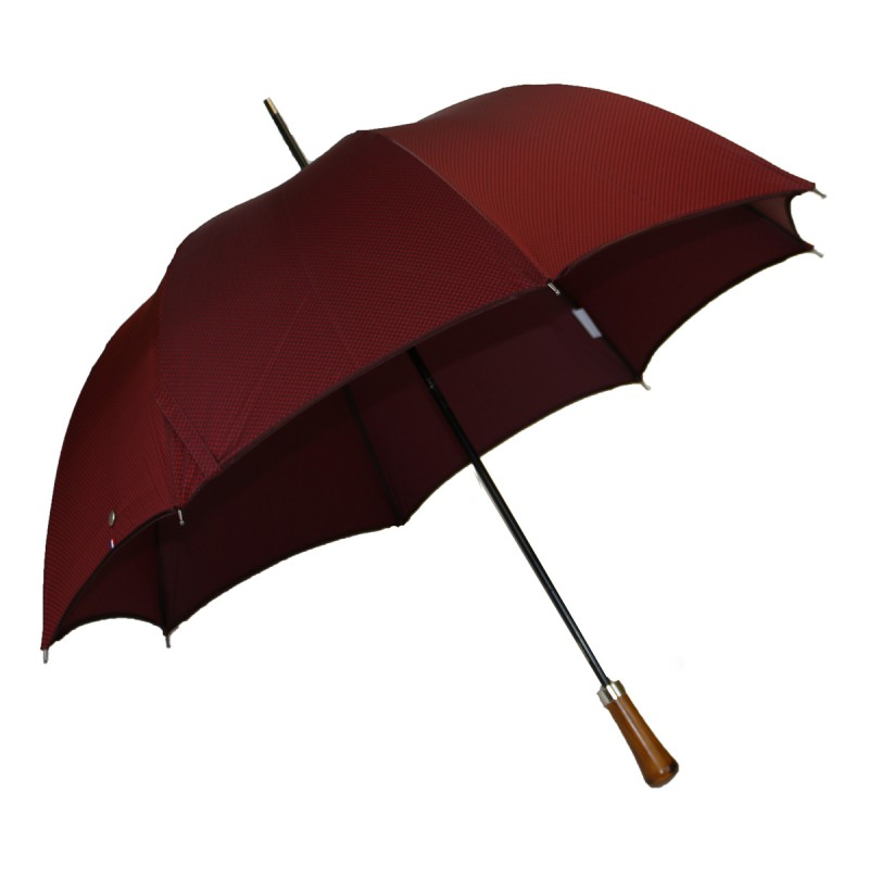 Automatic long woven red umbrella