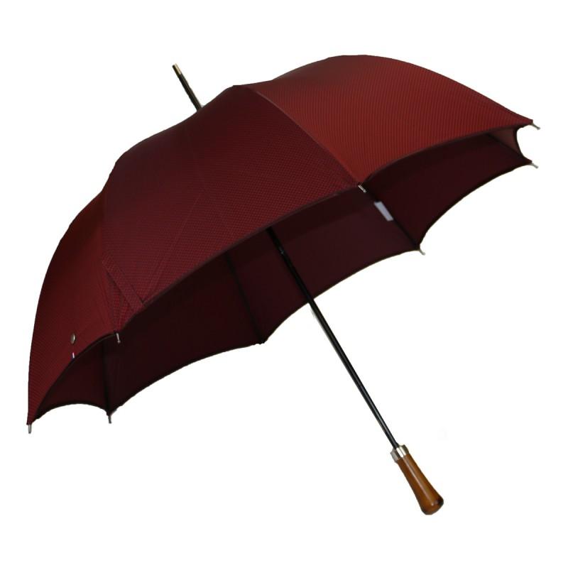 Parapluie automatique long tissé rouge
