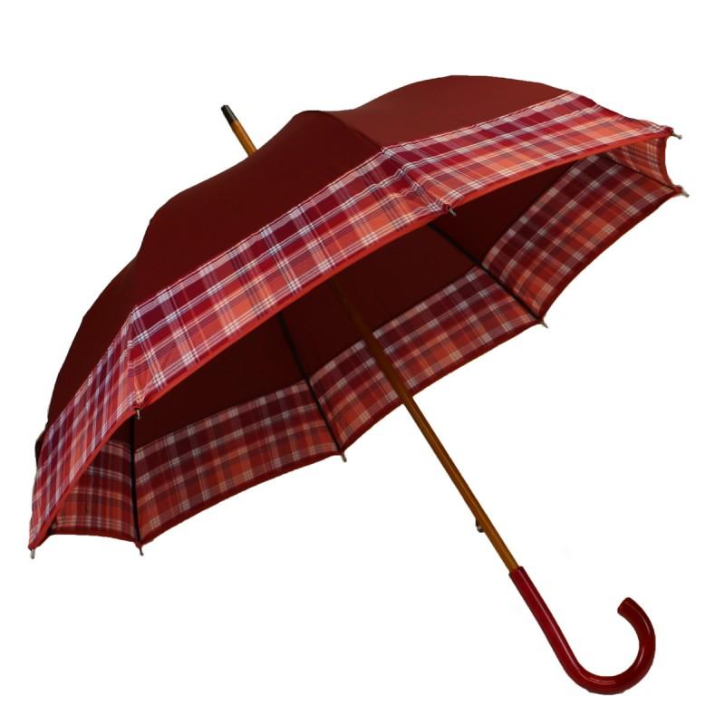 Medium umbrella burgundy tartan rosé