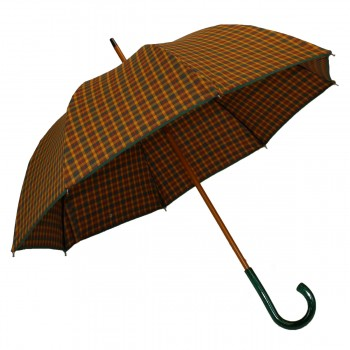 Umbrella medium tartan mustard