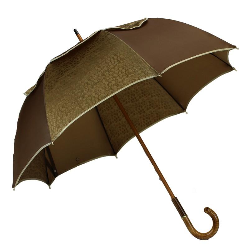 Brown and gold long Passvent umbrella