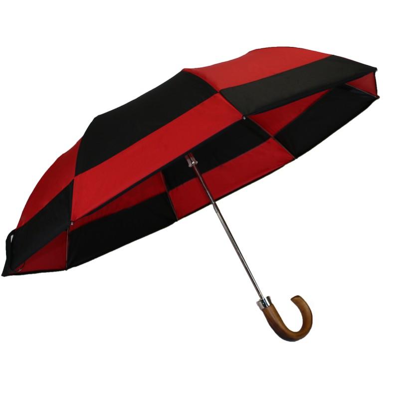 Parapluie pliant moulin noir et rouge homme
