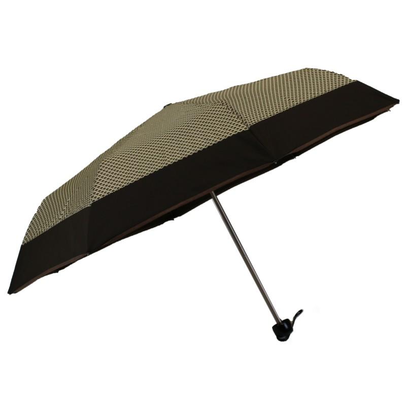 Brown mini umbrella with mushroom design