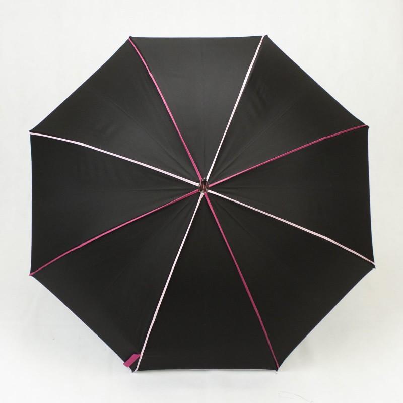 Parapluie Élégant noir et rose long